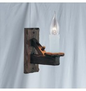 RUSTIC WOOD WALL BRACKET 1 LIGHT
