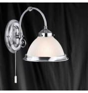 SATIN SILVER 1 LIGHT WALL BRACKET