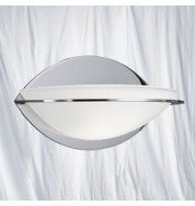1 LIGHT CHROME/GLASS CURVE WALL BRACKET