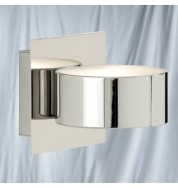 HERMIT 1 LIGHT CHROME CIRCULAR WALL BRACKET