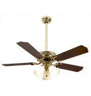 "Vienna Ceiling Fan 42"" - Pol Brass"