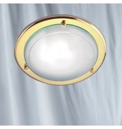 FLUSH GLASS METAL CEILING FITTING- POLISHED BRASS