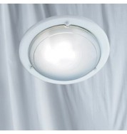 FLUSH GLASS METAL CEILING FITTING-WHITE