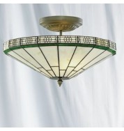 41cm 2 LIGHT SEMI-FLUSH TIFFANY