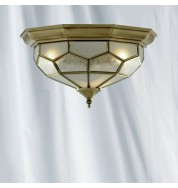 FLUSH ANTIQUE BRASS LEADED CHROME FITTING