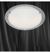 32CM ROUND CHROME RIPPLE GLASS FLUSH