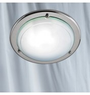 "12"" FLUSH GLASS METAL CEILING FITTING"
