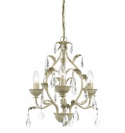 Charleston 3Lt Chandelier Cre Gold - Cream Gold