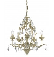 Charleston 5Lt Chandelier Cre Gold - Cream Gold