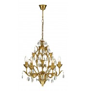 Charleston 5Lt Chandelier Ant Gold - Antique Gold