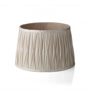 "Lido Medium Pleated Sh 12 "" Ivory Beige - Ivory / Beige"
