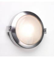 Toronto Round Bathroom Bulkhead Wall Light (dimmable) - polished aluminium