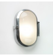 Toronto Oval Bathroom Bulkhead Wall Light (dimmable) - polished aluminium